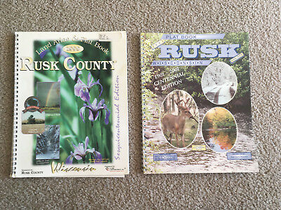 2 VTG RUSK COUNTY WISCONSIN WI 1998 & 2001 Plat BOOK Maps Landowner Index Towns