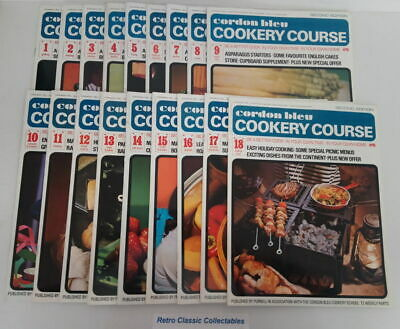 Cordon Bleu Cookery Course Vol.1 Issues 1 - 18 - Second Edition 1970's Purnell