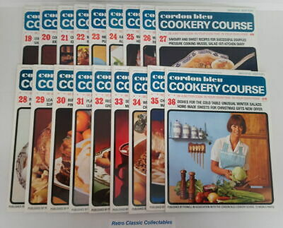 Cordon Bleu Cookery Course Vol.2 Issues 19 - 36 - Second Edition 1970's Purnell