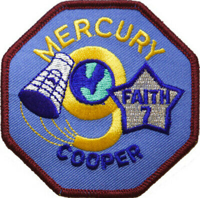 Mercury 9 Mission Embroidered Patch (Official Patch) 8cm Dia