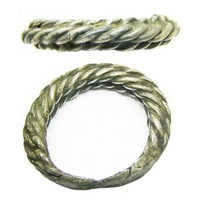 10th - 11th century A.D. Ancient Scandinavian Viking Braided Silver Finger Ring