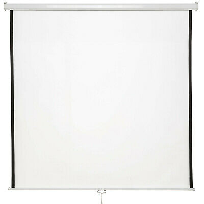 "New 84"" HD Projection Screen 152x152cm Home Cinema 4:3 Pull Down Projector 16:9"