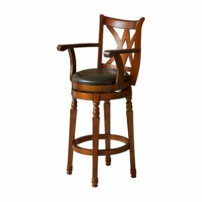 Best Selling Eclipse Armed Swivel Bar Stool Wood Material - Chocolate Brown