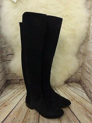 d02416960e0 BNIB CLARKS CADDY Belle Navy Suede and Elastic Over The Knee Boots ...