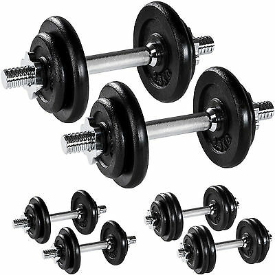 Dumbbell Set Weights Training Exercise Fitness Cast Iron Biceps Gym Workout  new
