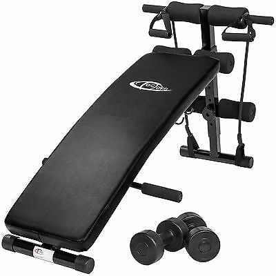 Foldable Sit Up Bench Abdominal Ab Crunch Home Gym Exerciser Training Machine