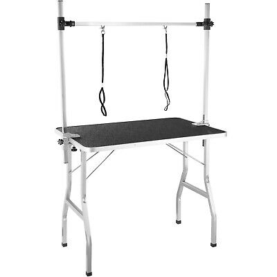Grooming Table with Two Slings for Dogs Cats Pets Multifunctional Steel Robust