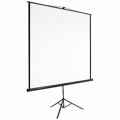 Portable tripod projector screen 152x152cm matte pull down projection cinema 85""