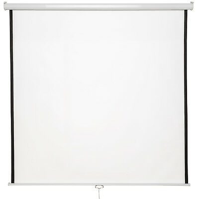 "New 99"" HD Projection Screen 178x178cm Home Cinema 4:3 Pull Down Projector 16:9"