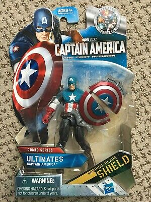 Marvel Captain America The First Avenger Comic Dual Blade Shield Ultimate Figure