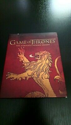 Game of Thrones The complete second Season 2 Blu-Ray 5 Disc Set Lannister SC
