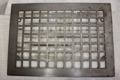 "Heat Air Grate register only vintage old 13 5/8 x 9 5/8"" squares clean cast iron"