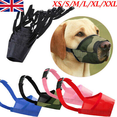 Dog Safety Muzzle Adjustable Anti Biting Barking Chewing Small Medium Large UK