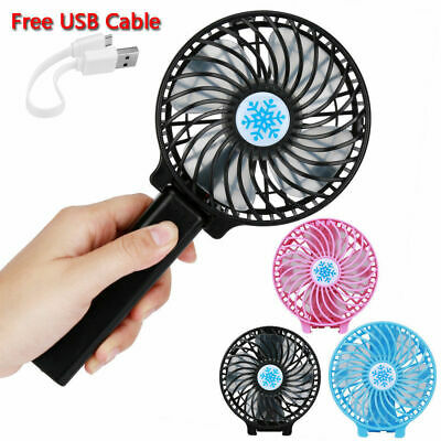 Mini Air Conditioner Cooler Cooling Fan Hand Held Portable USB/Battery Operation
