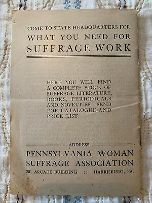 1915 Woman Suffrage Association Votes For Women Antique Pamphlet Party National