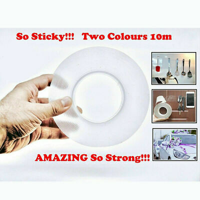 Double-sided Grip Tape Traceless Washable Adhesive Nano Invisible Gel Tapes US