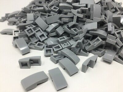 Lego New Lot of 100 New Black Slopes Sloped Curved 2 x 2 No Studs Pieces
