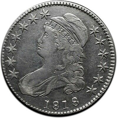 1818 Capped Bust Silver Half Dollar 50¢ Coin Lot# A 434