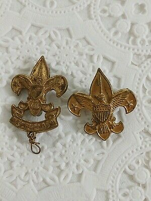 Early Pat.1911 Boy Scouts of America Pin - Rare - B.S.A. - Be Prepared (2) Pins
