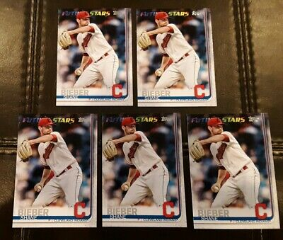 Lot of 5 SHANE BIEBER 2019 TOPPS 271 Cleveland Indians All Star Game MVP