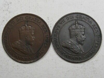 2 Better Grade Canadian Large Cents with Full Crown: 1903 & 1904.  #64