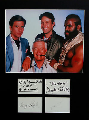 THE A-TEAM signed autographs PHOTO DISPLAY George Peppard Mr T Dirk Benedict