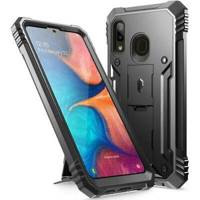 Samsung Galaxy A20 Case w/Kick-stand,Poetic® Dual Layer Shockproof Cover Black