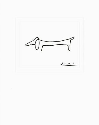 The Dog by Pablo Picasso - Art Print Dachshund Puppy Poster 16x20
