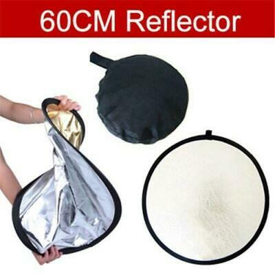"24"" 2 in1 Photography Light 60cm Mulit Collapsible Reflector Photo Disc Set Kit*"