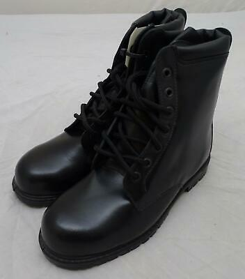 Black Leather All Terrain Boots (ATB) with Steel Toe Cap and Steel Midsole