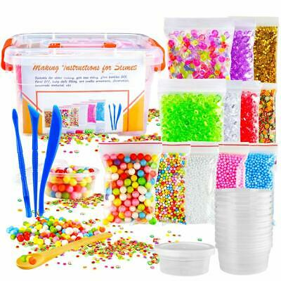Slime Making Kit for Kids Includes Unicorn Slime Charms Glitter Sheet Jars