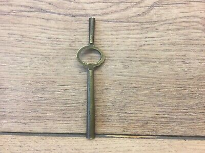 ANTIQUE LONG DOUBLE ENDED CARRIAGE CLOCK KEY APPROX 98mm LONG