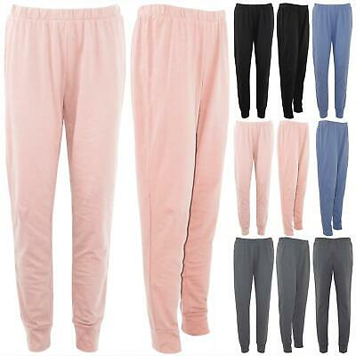 Womens Ladies Elasticated Waist Jogging Jog Bottom Joggers Fleece Pants Trouser