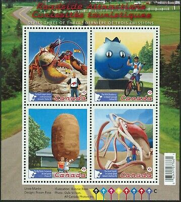 Canada Sc#2484 Roadside Attractions - 3 Souvenir-Sheet, Mint-NH