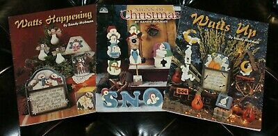 3 Sandy Holman Decorative Painting Pattern Book Lot Holiday Christmas Halloween