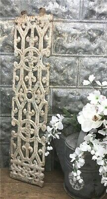 Antique Cast Iron Fence Panel Grate, Window Guard Panel Architectural Salvage d