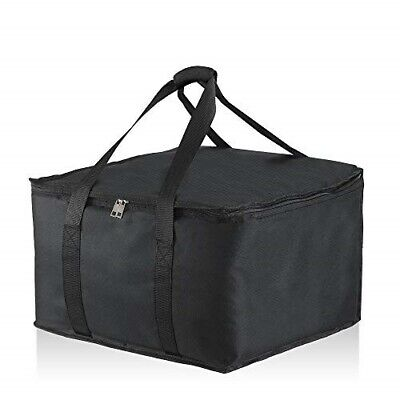 "Food Delivery Insulated Bag 16"" x 17"" x 10 1/2''. Premium Food Bag Warmer/Cooler"