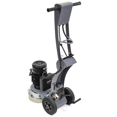 "10"" Walk-Behind Electric Concrete Floor Grinder Adjustable Angle 1.5HP Machine"