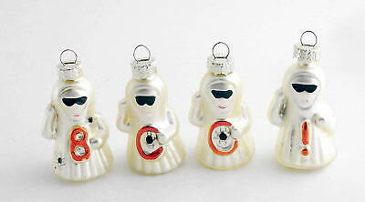 Halloween Decorations Glass Ghost Ornaments Boo !