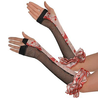 Lady Gaga Fingerless Gloves Snake Fancy Dress Halloween Adult Costume Accessory