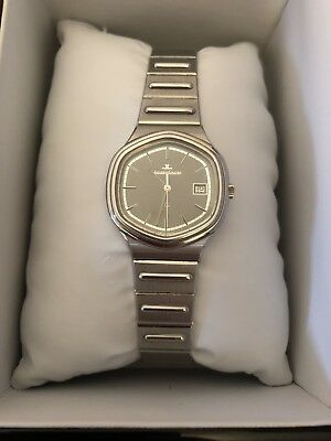 Vintage Men's Jaeger Le-Coultre Hexagon Stainless Steel Calendar Watch - EUC