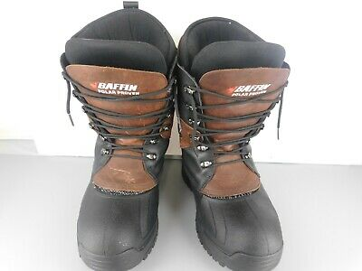 409d4a9be0e BAFFIN POLAR PROVEN Wolf Snow Boots Mens Black Size 9 Winter FY16 ...