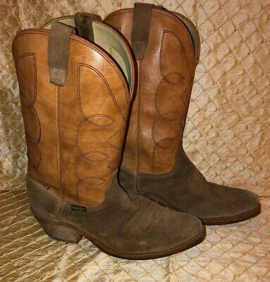 d340c4768ac WRANGLER BROWN LEATHER Western Cowboy Boots Mens Size 11 EE Oil Resistant  Rufgum