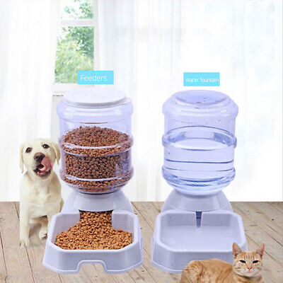 3.8L Large Automatic Pet Food Drink Dispenser Dog Cat Feeder Water Bowl Useful