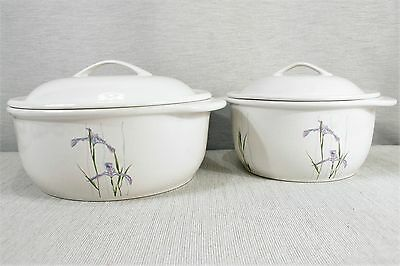 LOT Corning CORELLE Coordinates SHADOW IRIS 1.5 & 2.5 Qt Covered Casseroles EXC!