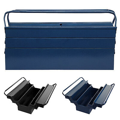 Large heavy-gauge steel Metal Cantilever Tool box Storage 3 Tier 5 Tray Toolbox
