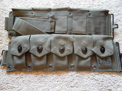 .30 M1 Garand Greenish OD Color WW2 Type 10 Pocket Cartridge Belt .3006 NEW