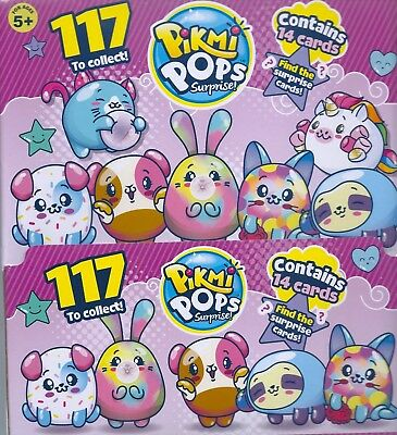 pikmi pops 5x single packets trading cards 14 cards per pack