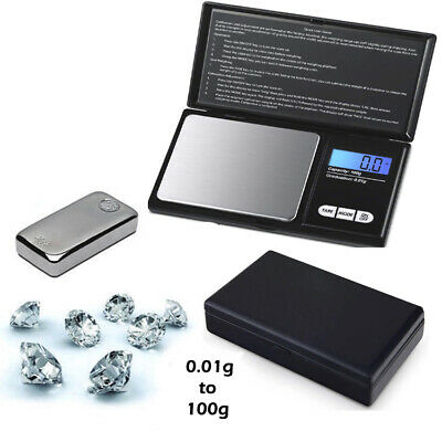 0.01G to 100G Electronic Pocket Mini Digital Gold Jewellery Weighing Scale UK