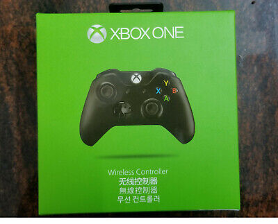New Official Microsoft Xbox One Wireless Controller Gamepad BLACK - 3.5 mm Jack